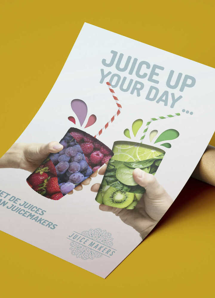 De samenwerking tussen choco en JuiceMakers? Da's een fris en smakelijk sapje!